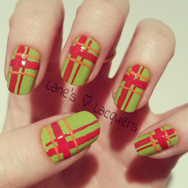 barry-m-gelly-green-red-plaid-nail-art
