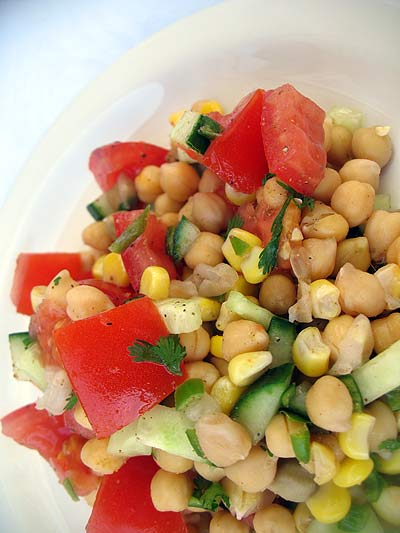 Chickpea and Tomato Salad with Chat Masala