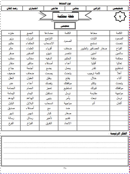 شيتات المجموعة المدرسية لمادة اللغة العربية للصف الثالث الابتدائى على هيئة صور للمشاهدة والتحميل The%2Bthird%2Bunit%2B3%2Bprime_005