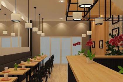 Desain 3D Interior Restoran di Rumah Ruko Kantor  Apartemen Hotel