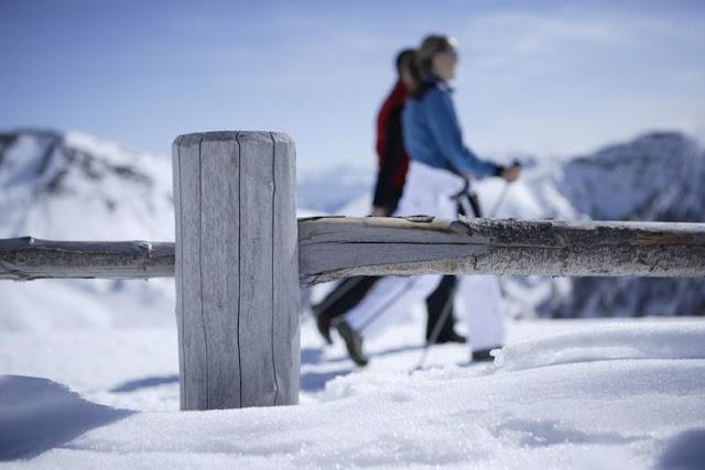 Auch schön: Spazieren gehen im Neuschnee...