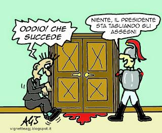 Mattarella, Quirinale, stipendi, divieto di cumulo, vignetta, satira