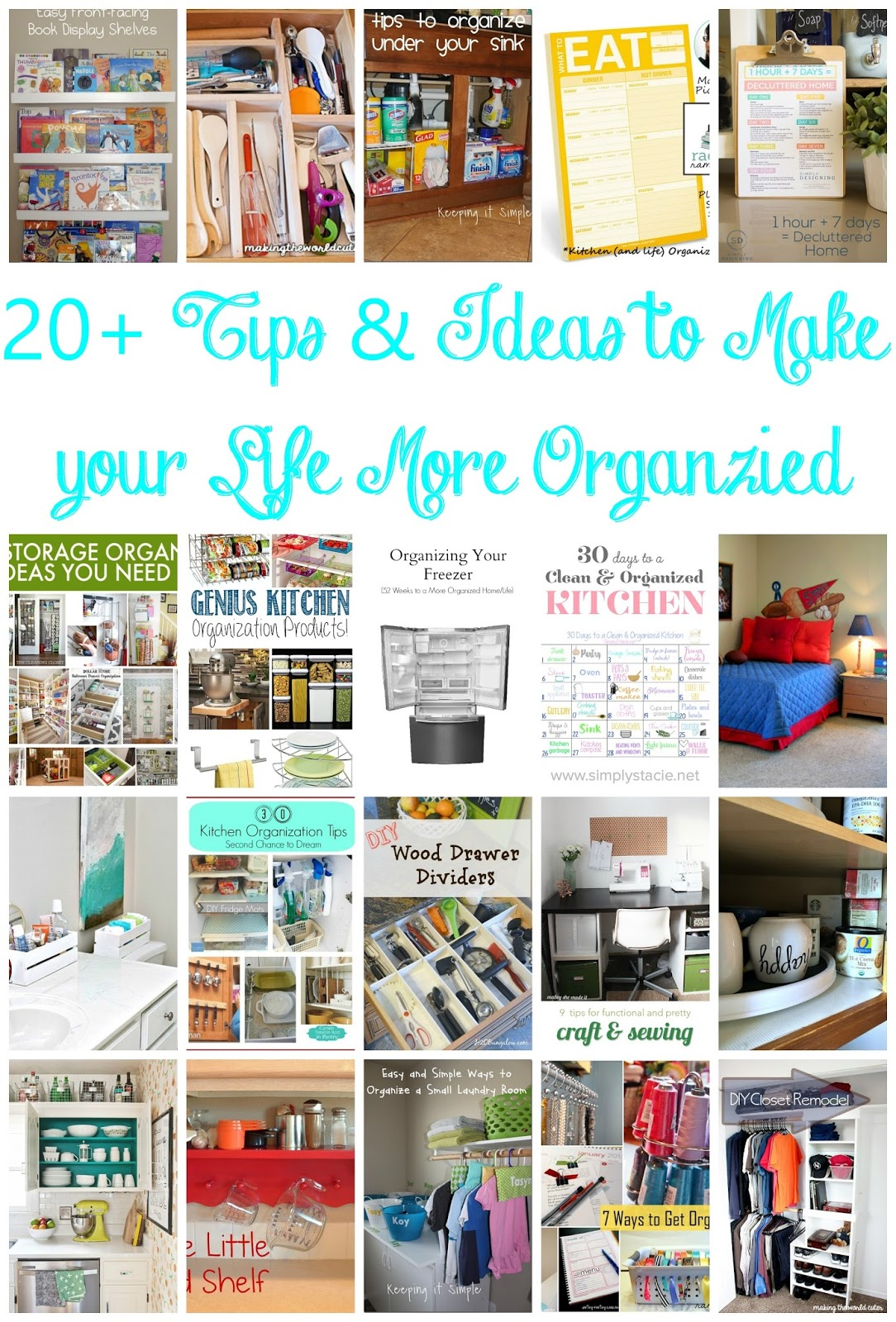 Keeping it simple 20 organization tips and ideas mmm 313 block party - Tips to keep your house more organized ...