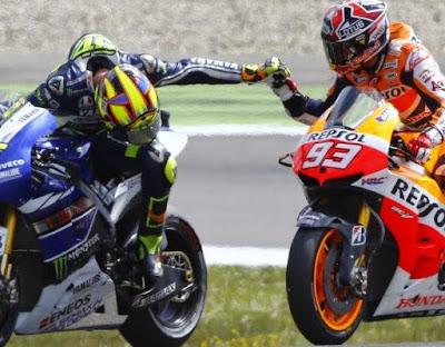 Kenapa Rossi - Marquez Tidak Keluhkan Arm-Pump?