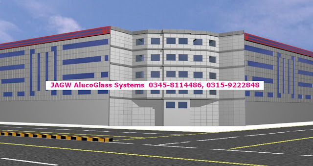 ACP Aluco Cladding, Alucobond, Curtain Wall, Glass