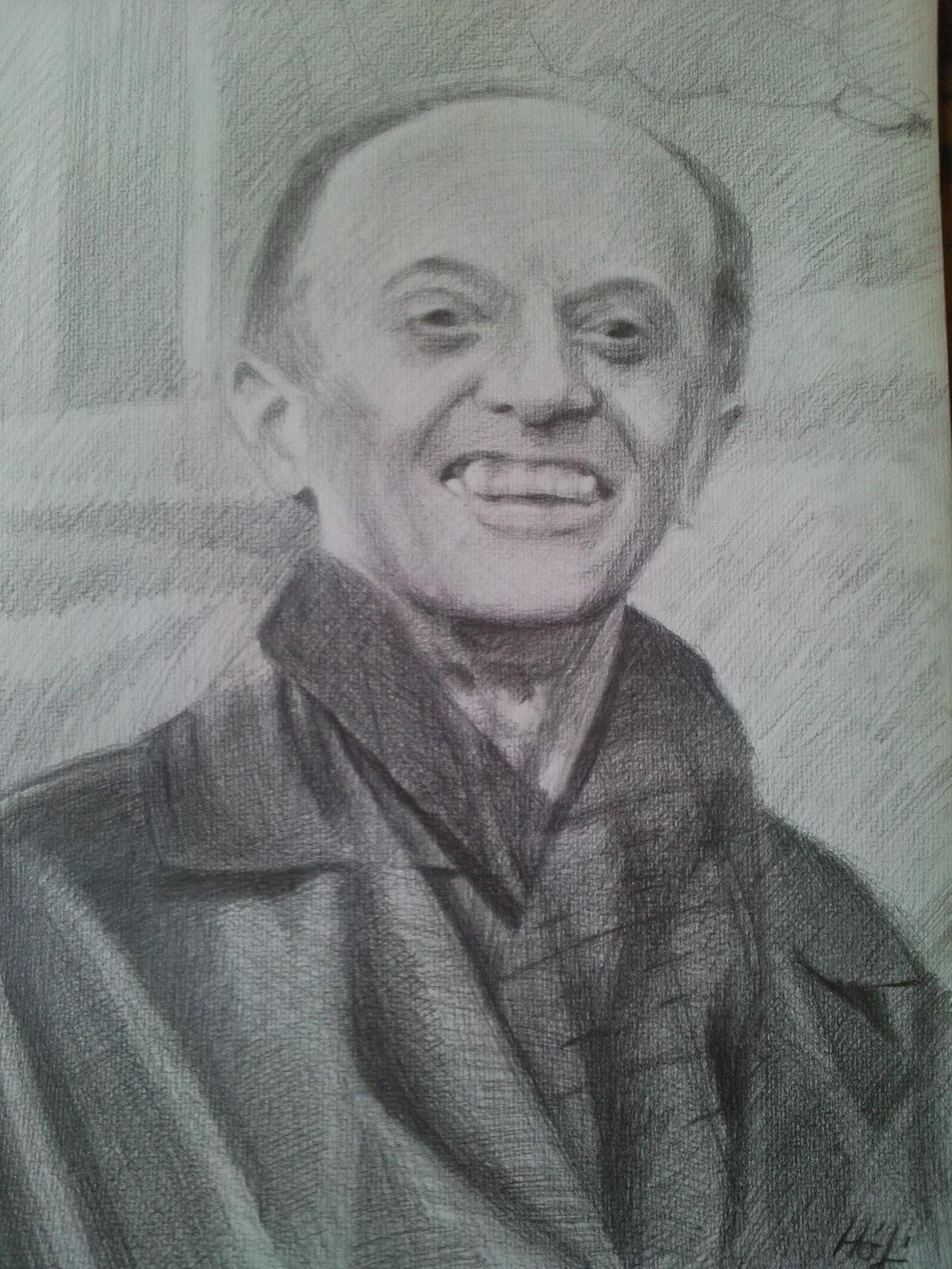 portré, ceruzarajz, fotó