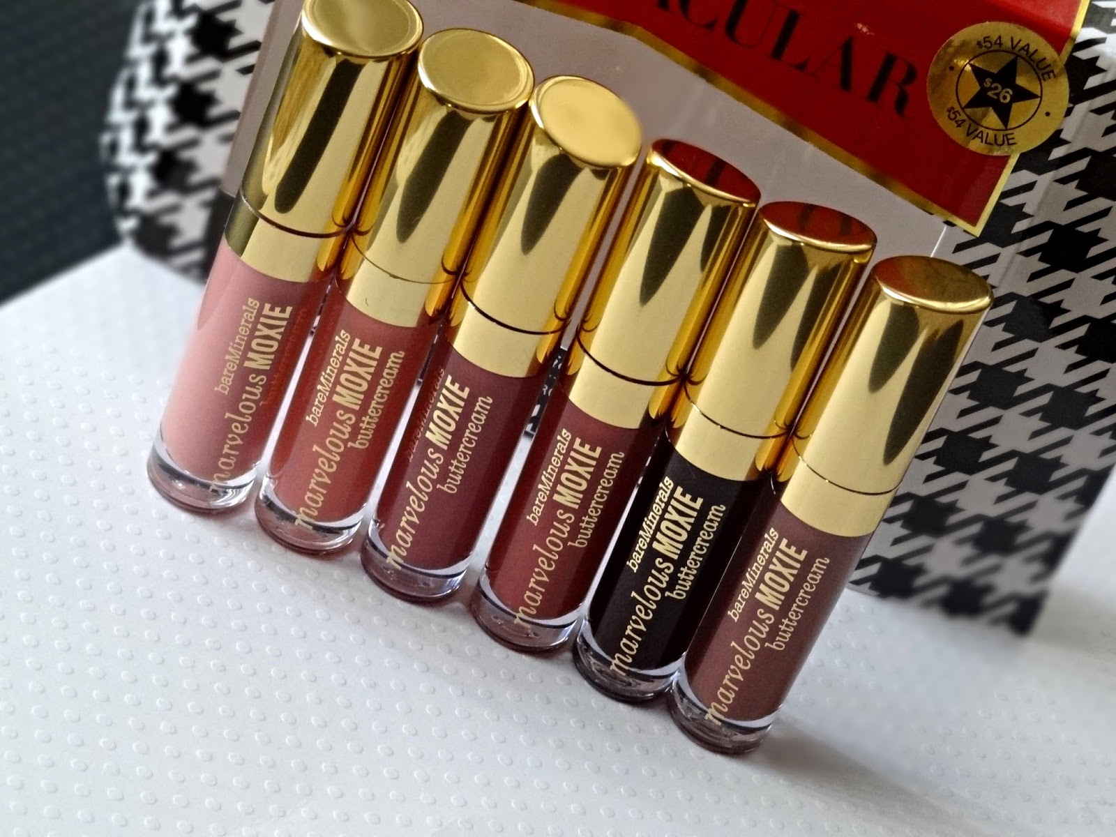 bare minerals Lip Spectacular 6 piece marvelous moxie butter cream Lip gloss collection