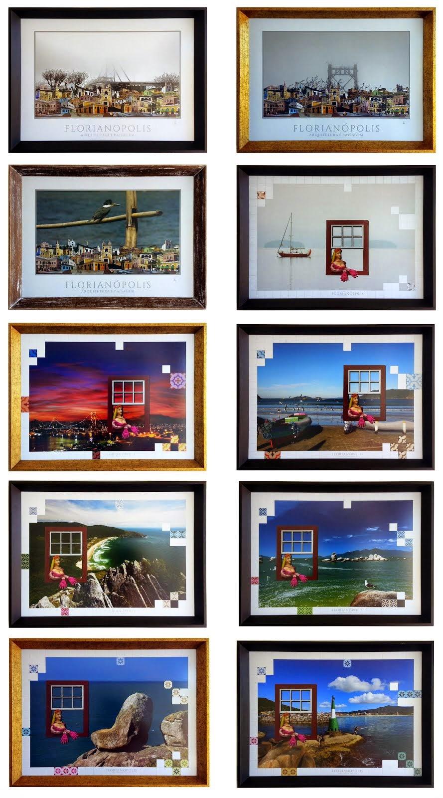 ARQUITEURA E PAISAGEM-fotos com moldura 65X50cm