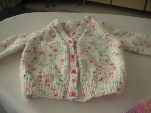 Knitting Galore Easy Baby Cardigan