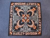 ~70's HARLEY DAVIDSON             OFFICIAL BANDANA              BLACK