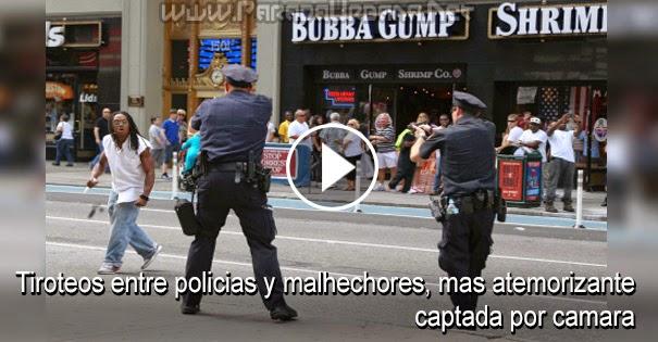 VIDEO IMPRESIONANTE: Tiroteos entre policías y malhechores, mas atemorizante, captada por cámara