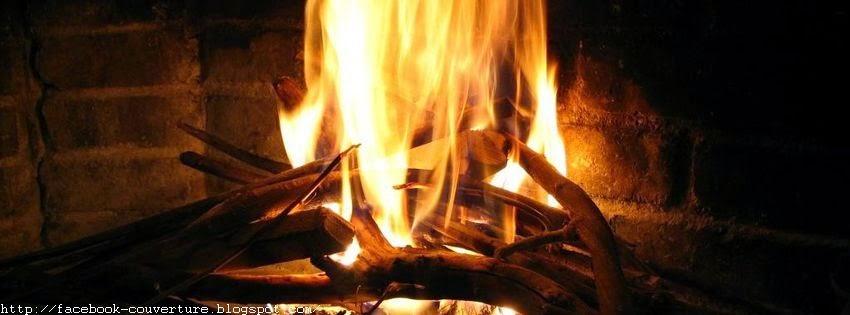 Une jolie couverture facebook feu de bois