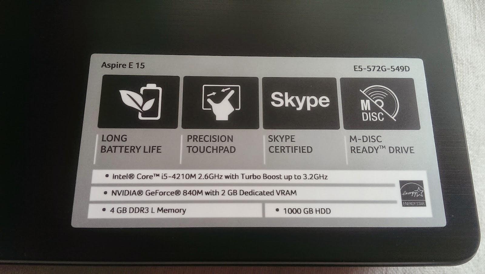 2015 03 22%2B12.13.38 - [開箱] Acer E5-572G i5-4210M 搭配NVIDIA 840G 2G獨顯
