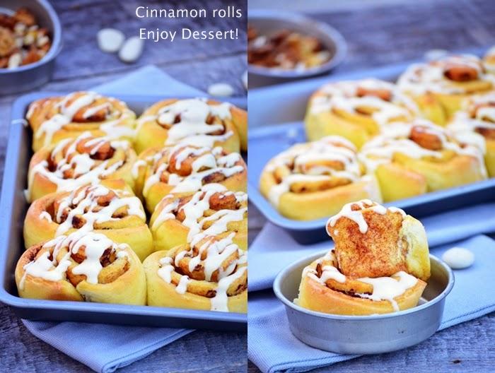 Cinnamon rolls - rulouri cu scortisoara