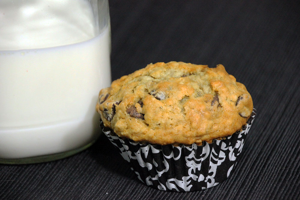 Banana Oatmeal Chocolate Chip Muffins - Rainstorms and ...