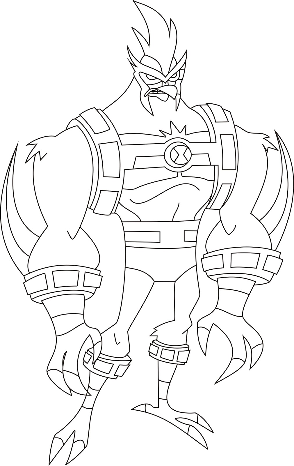 ben 10 omniverse coloring baking tools coloring page