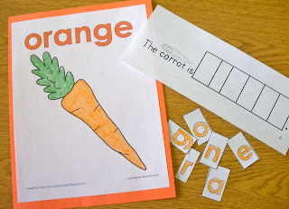 Color word emergent reader and poster set