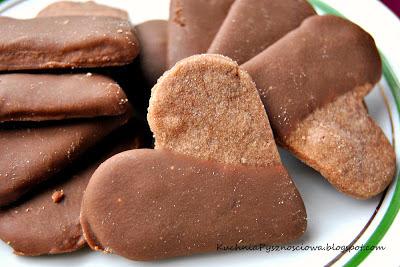 38. Herbatniki czekoladowe z czekoladą...z miłości do czekolady :)