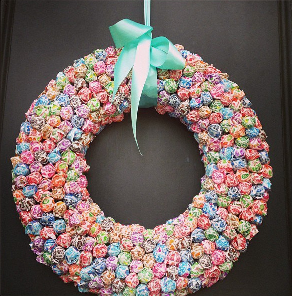 how to make a welcome baby wreath