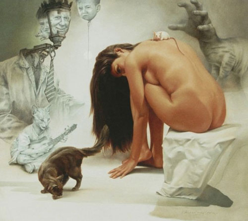 Johnny Palacios Hidalgo 1970 | Peruvian Surreal Hyperrealist painter