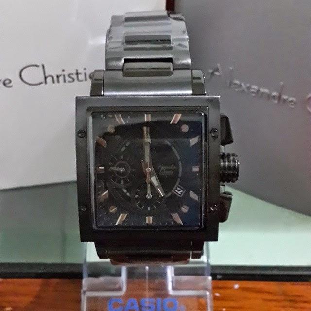 jam tangan alexandre christie 6182 full black