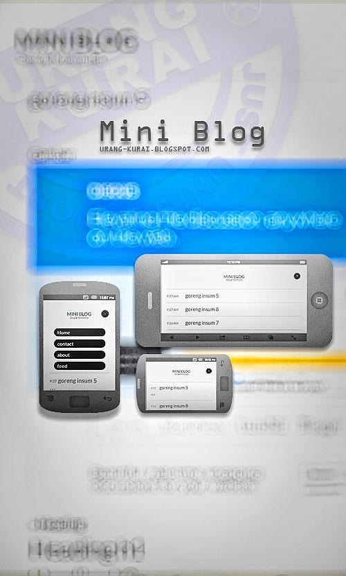 mini blog template