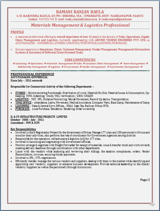 resume blog co  atractive resume sample in word documet