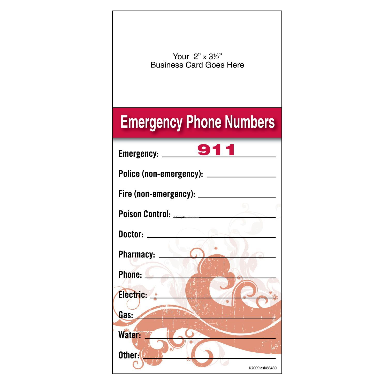 Emergency Numbers Template Images - Reverse Search