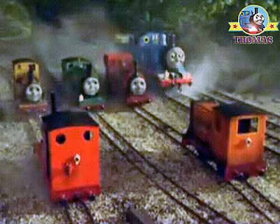 Old Proteus the tank engine magic train lamp ask Thomas and Duncan the tank engine doubting him