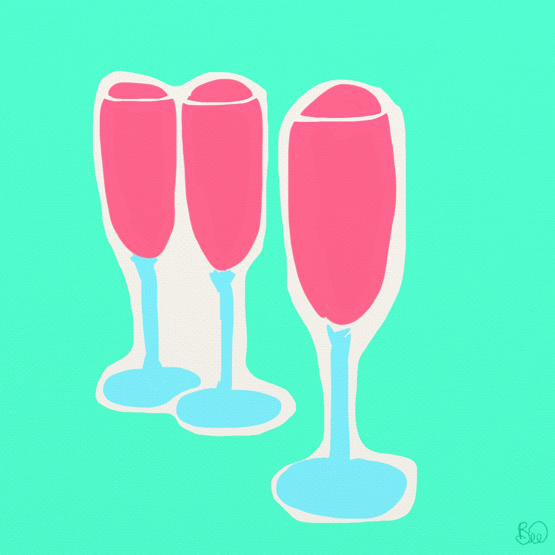 Amanda C. Bee: Colorful Cocktails: Strawberry Champagne Slushies