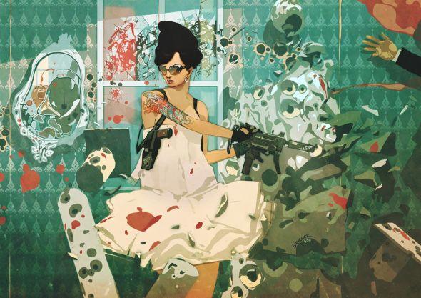 Reynan Sanchez ilustrações fantasia games Vestida para matar