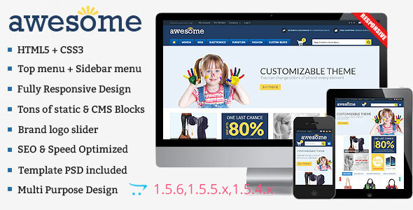 Responsive kids store eCommerce Theme
