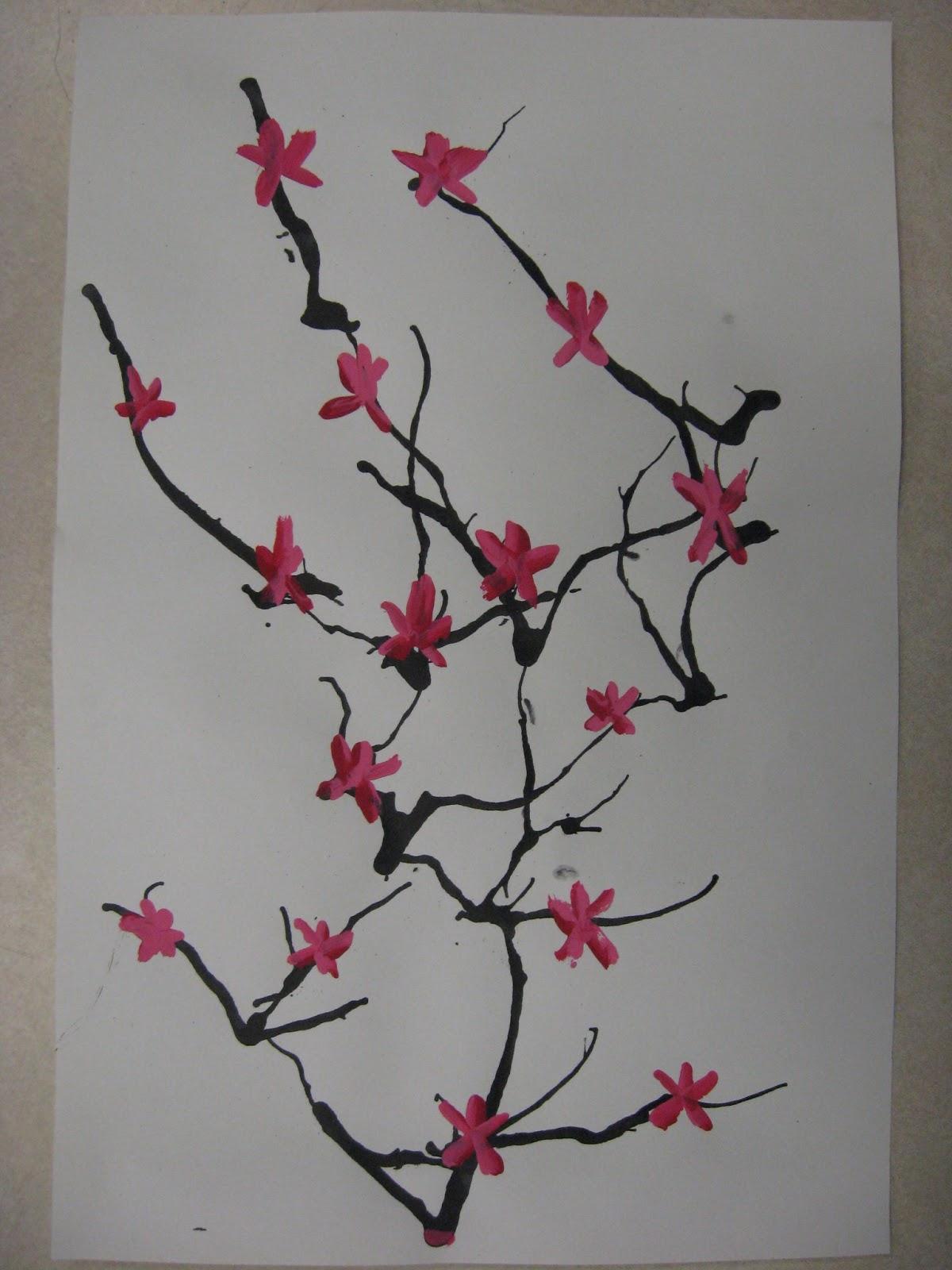 Gallery For gt Japanese Cherry Blossom Art Kids