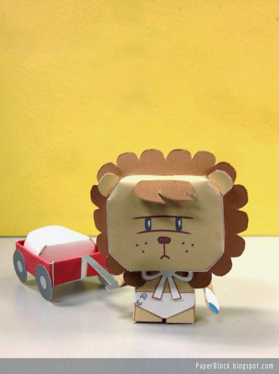 WoWo go Roar Paper Toy