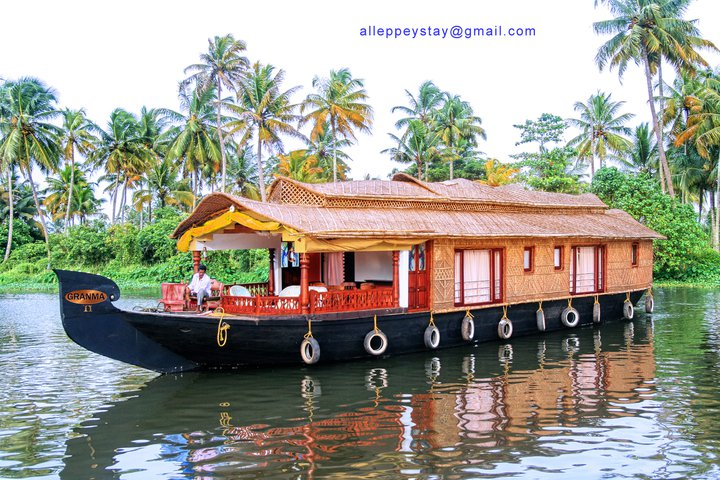 TWO BEDROOM HOUSEBOAT ALLEPPEY KERALA