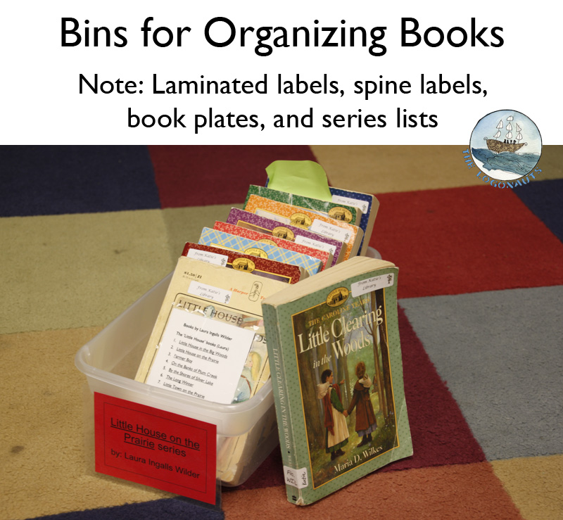 Bins for Organizing Books - Organizing a Classroom Library | The Logonauts
