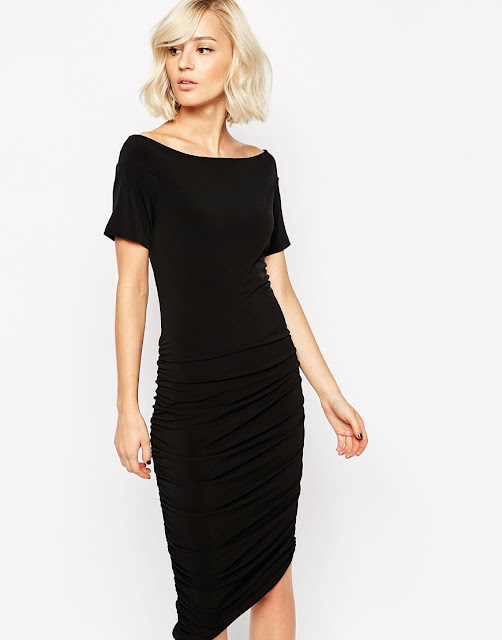 gestuz black midi dress, gestuz body con dress,