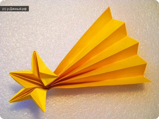 хвост яркая оригами-звезда