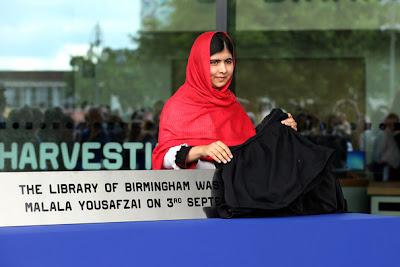 Malala in Birmingham library