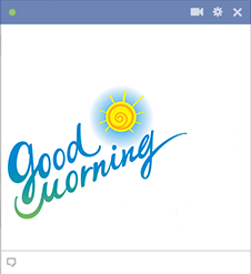 Good morning Facebook sticker