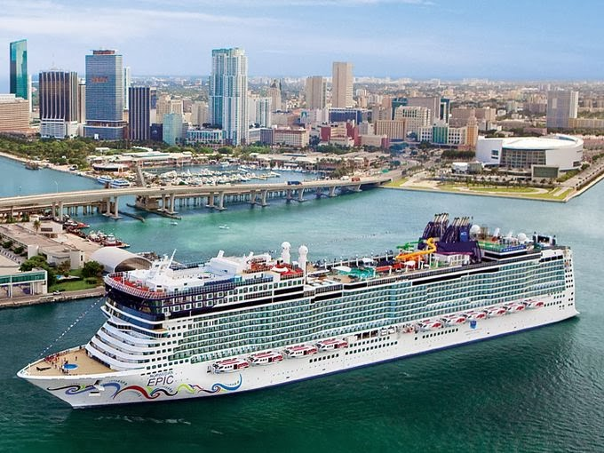 The Norwegian Epic in the Port of Miami | Courtesy of USA Today