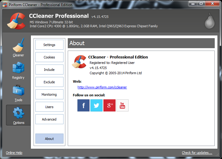 Ccleaner windows xp professional service