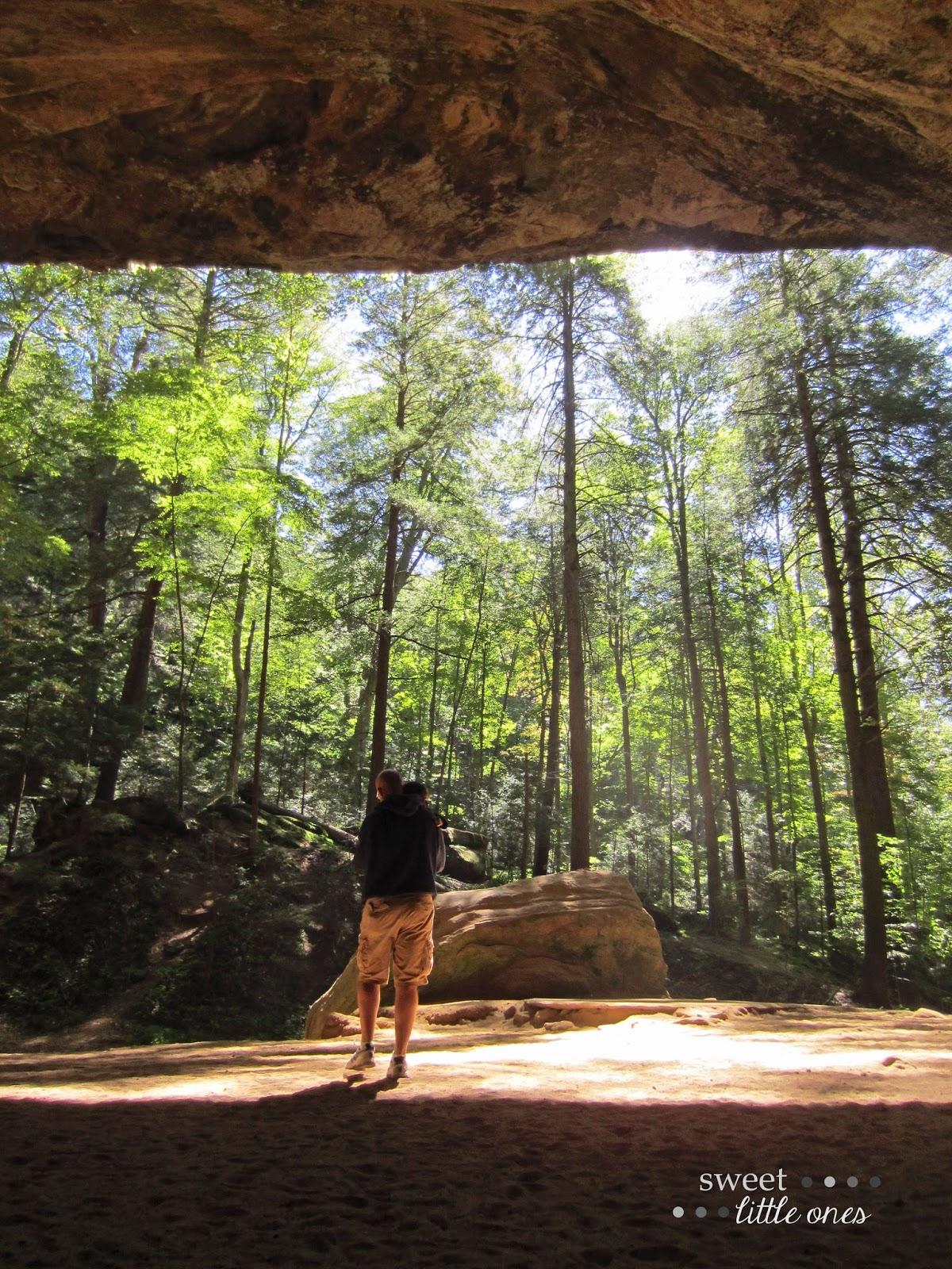 Hocking Hills Ohio - Ash Cave  www.sweetlittleonesblog.com