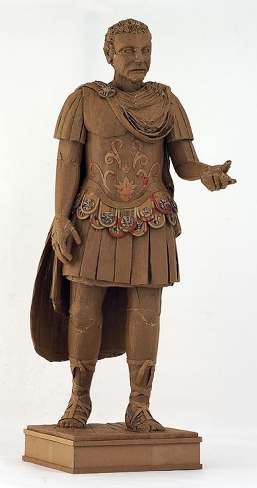 13-Julius-Caesar-Life-Size-Chris-Gilmour-Cardboard-Sculptures-www-designstack-co