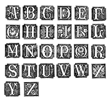 Back > Gallery For > Illuminated Letters Alphabet