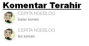 Comment With Avatar di Blogspot
