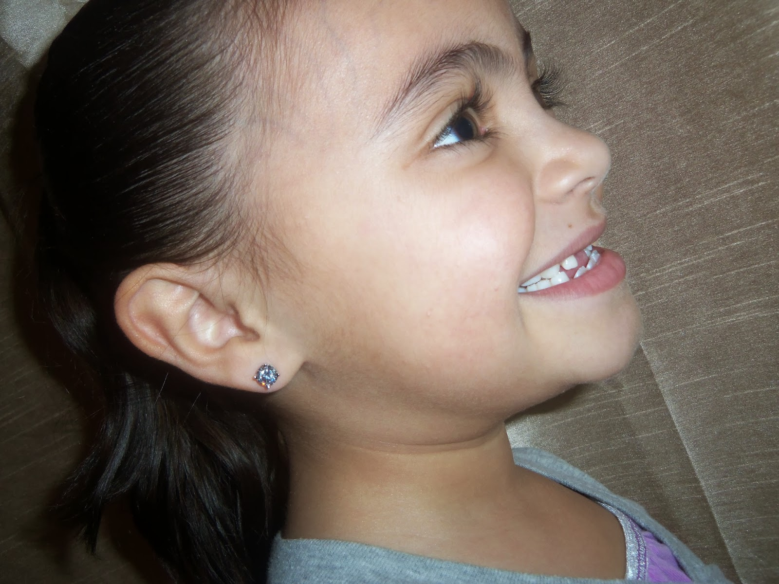 My 6 Year Old Modeling The Round Cut Studs Or As She Calls Them Her Princess Diamonds