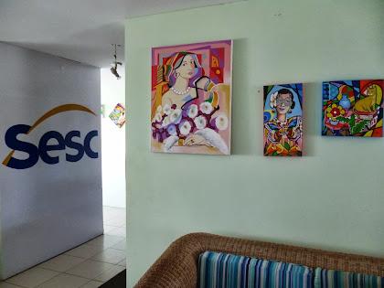 Exposição do Artista Plástico José Tadeu no Sesc de Piedade - PE