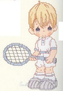 tenisci çocuk deseni