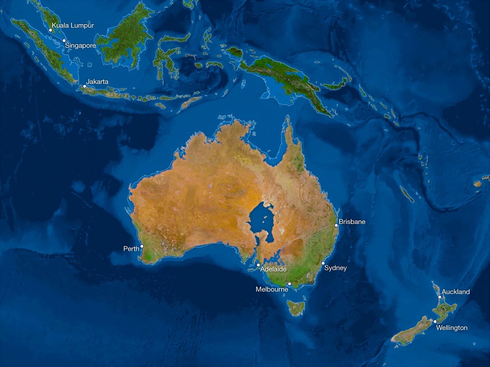 ¿Cómo sería la Tierra si todo el hielo se derritiera? Australia-sin-hielo